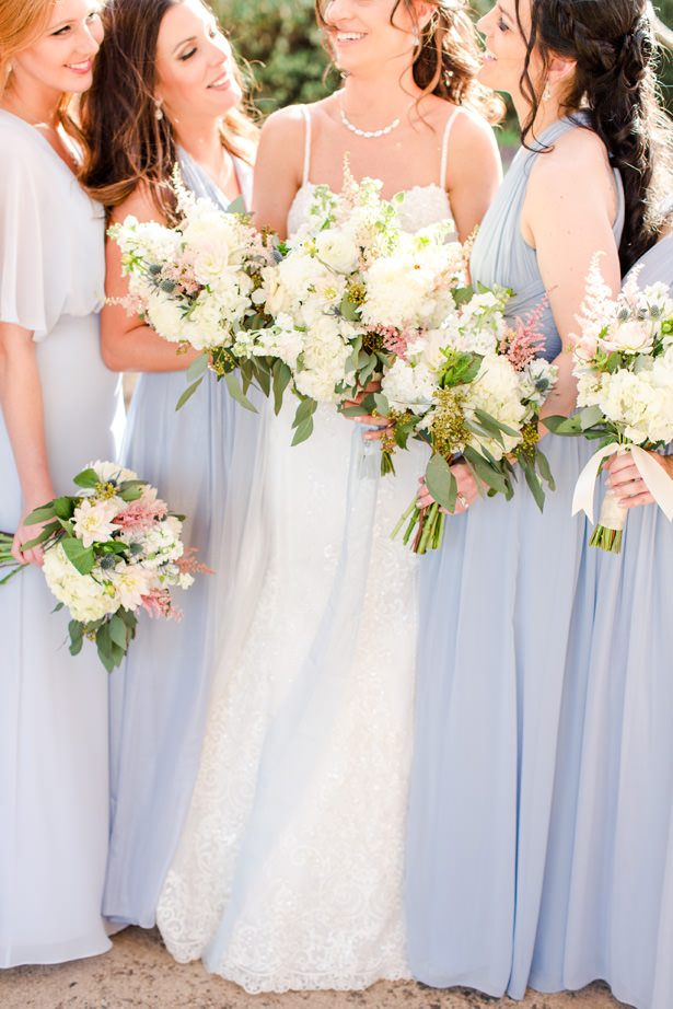 matching wedding party white bouquets - Bethanne Arthur Photography