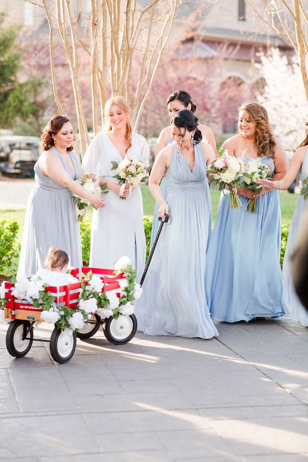 mis matched bridesmaid dresses - Bethanne Arthur Photography