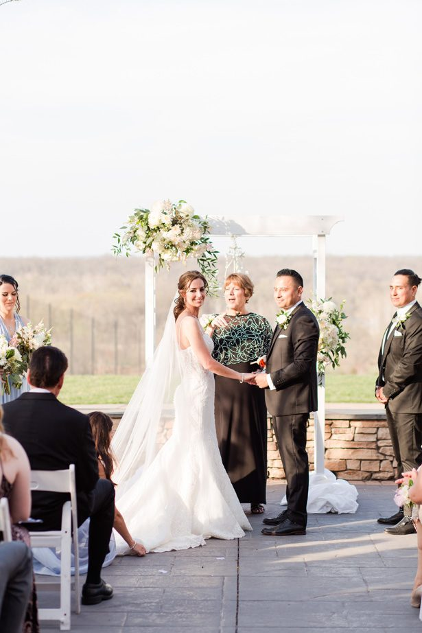 spring outdoor wedding ceremony - Bethanne Arthur Photography