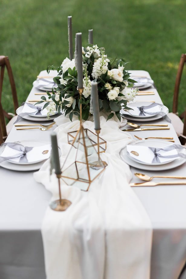 tall gray wedding candles - Sarah Sunstrom Photography