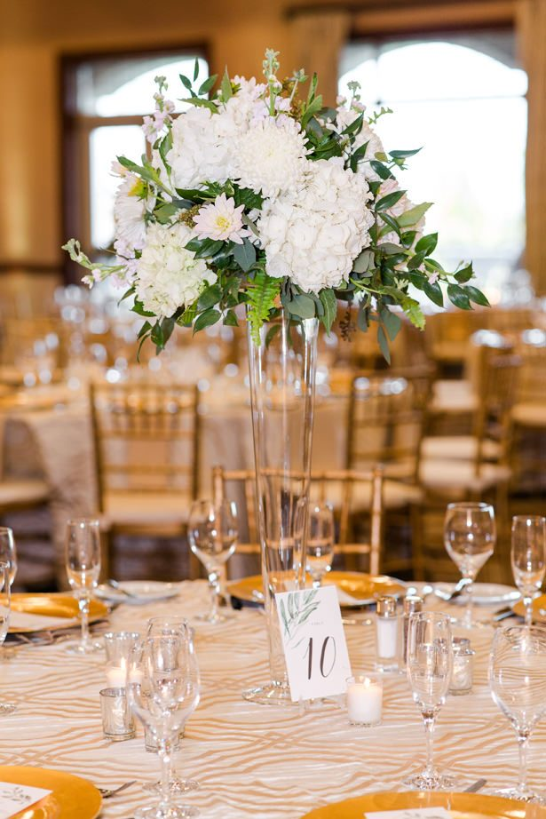 tall wedding table centerpiece - Bethanne Arthur Photography