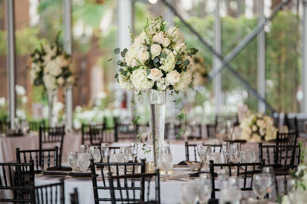 tall wedding table centerpiece - Nichanh Nicole Photos