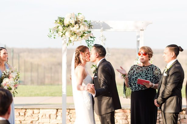 wedding kiss - Bethanne Arthur Photography