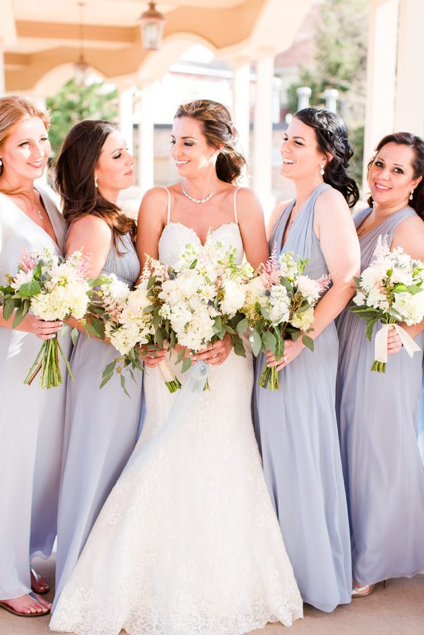 wedding party bouquets - Bethanne Arthur Photography