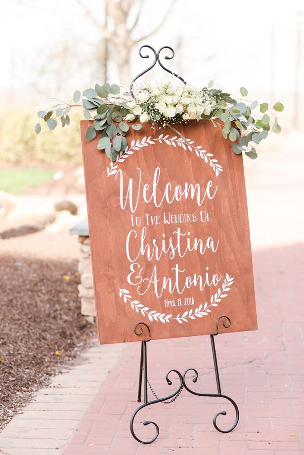 wedding welcome sign - Bethanne Arthur Photography