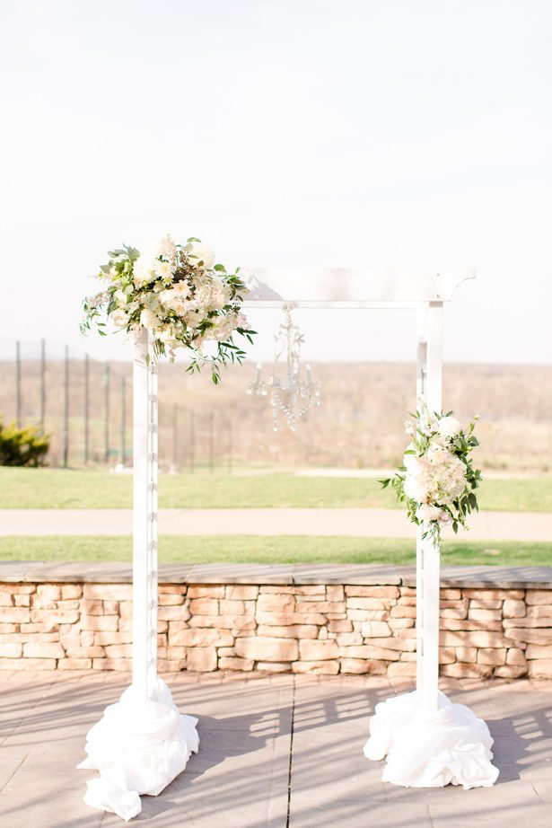 wood wedding arbor - Bethanne Arthur Photography