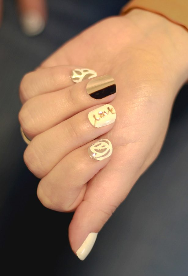 Beautiful + Easy Wedding Nail Art with Cricut