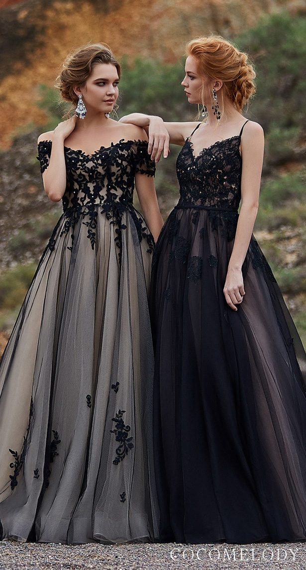 Black Colored wedding dresses by CocoMelody