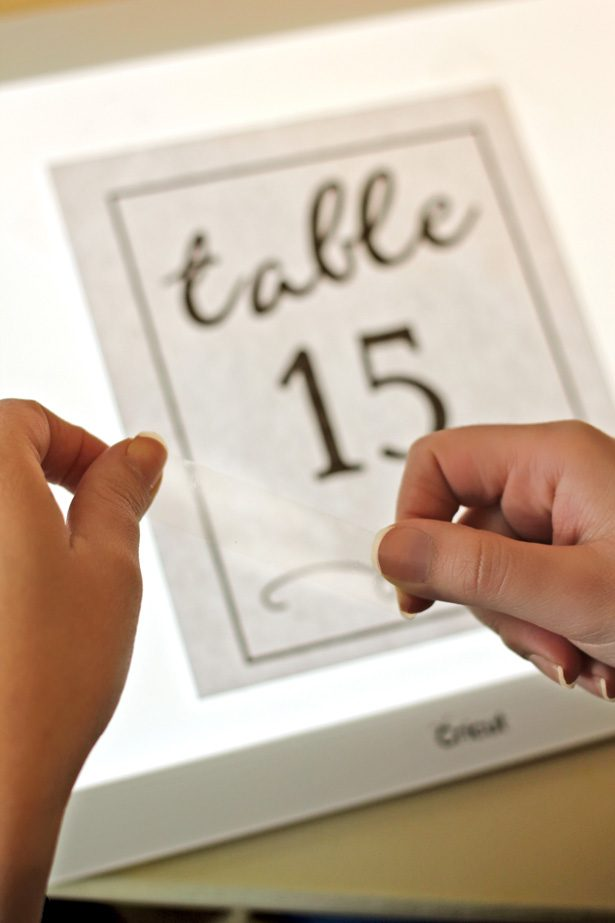DIY Acrylic Table Numbers with Cricut 2