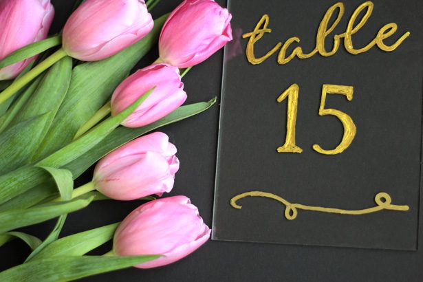 DIY Acrylic Table Numbers with Cricut