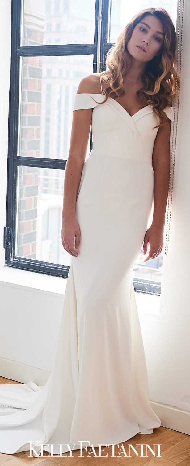 Simple Sophistication: Minimalist Wedding Dresses by Kelly Faetanini