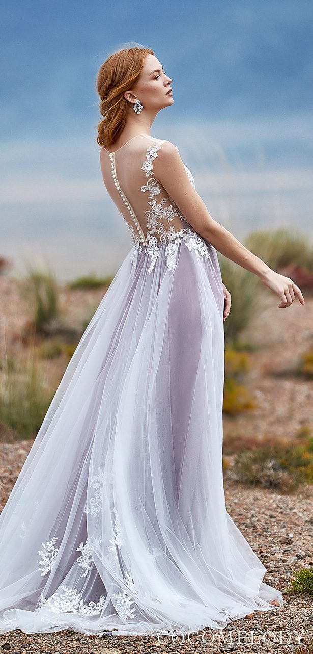 Lavander Colored wedding dress by CocoMelody - LD5846
