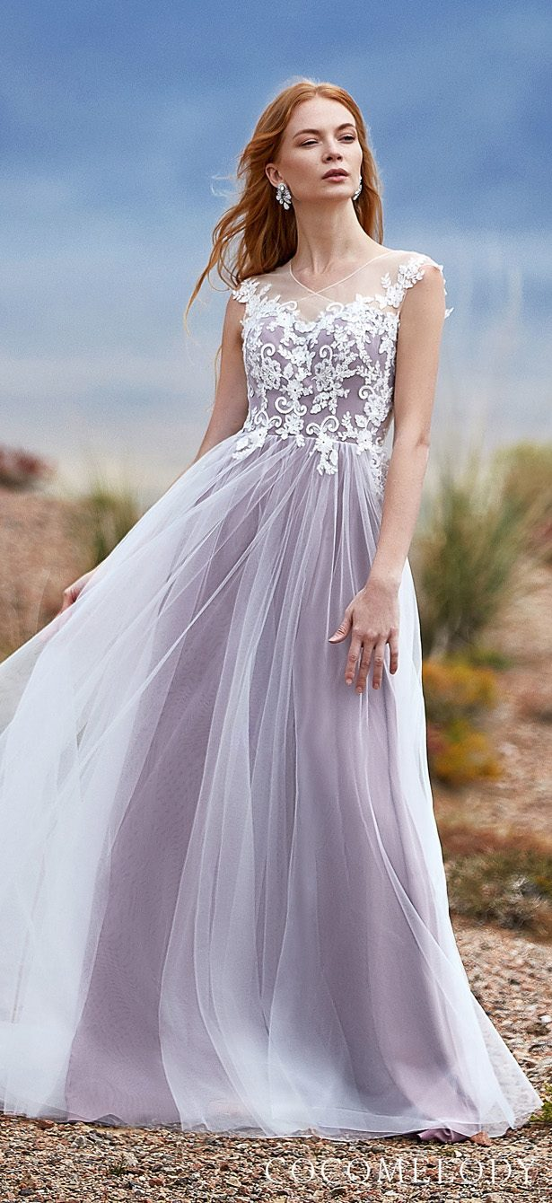 Lavender Colored wedding dress by CocoMelody