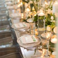 all acrylic wedding reception table - Studio EMP