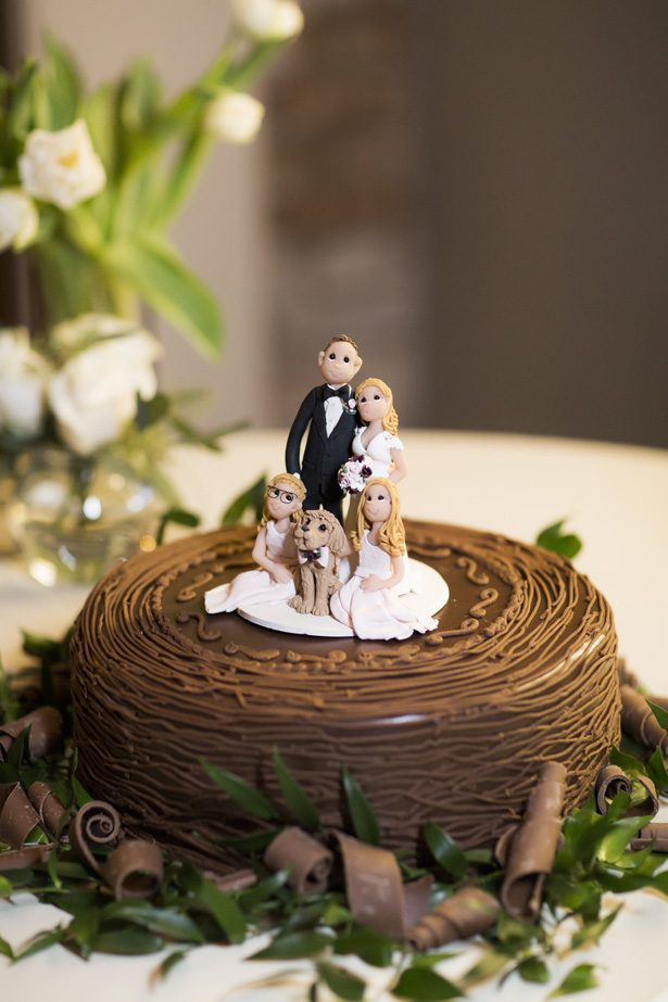 chocalate wedding cake - Aislinn Kate Photography