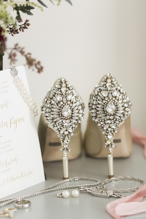 diamond wedding shoes - Aislinn Kate Photography