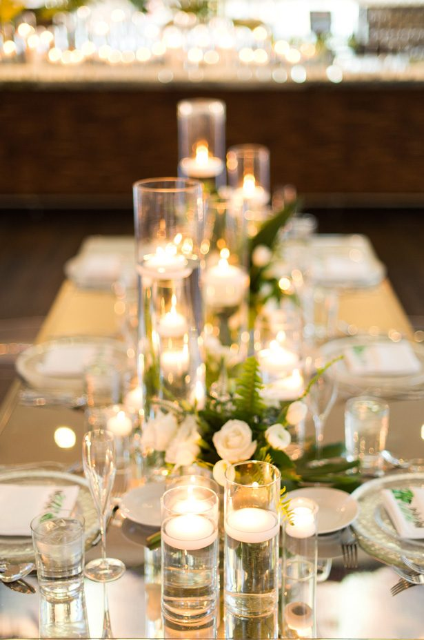 elegant wedding table with candles - Studio EMP