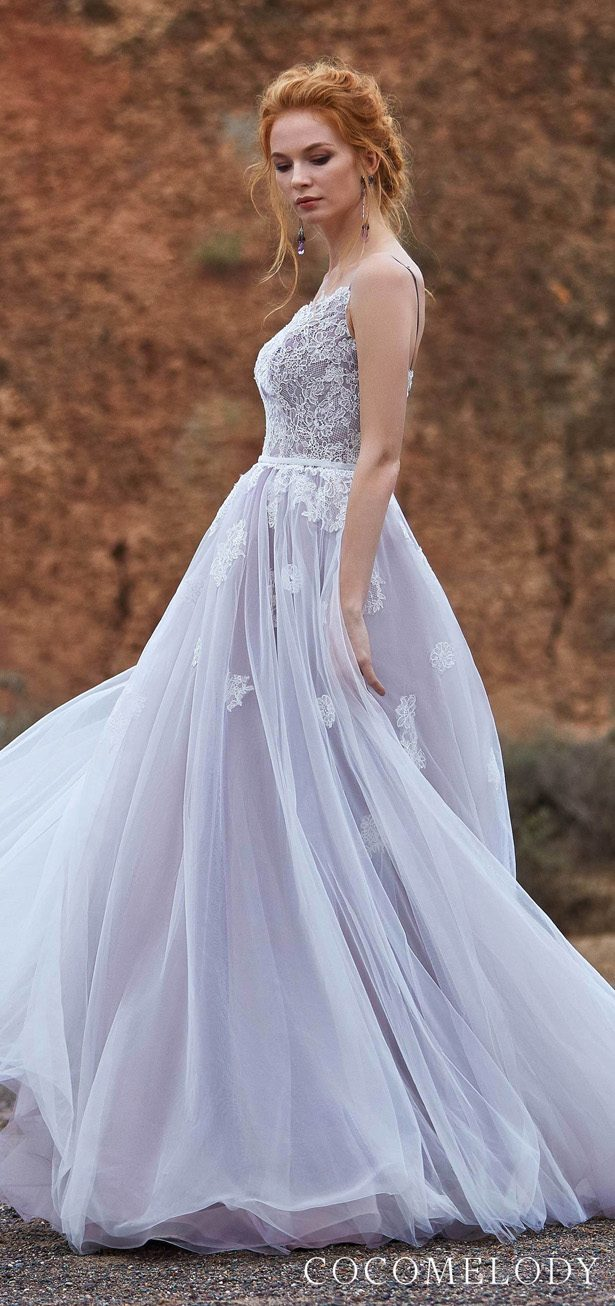 ivory & quail Colored wedding dress by CocoMelody