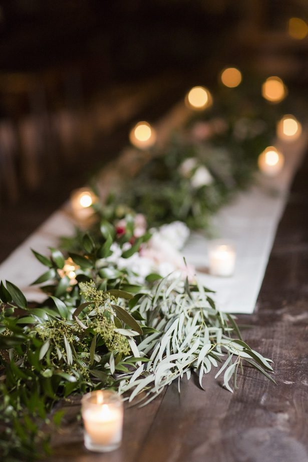long wedding table garland - Aislinn Kate Photography