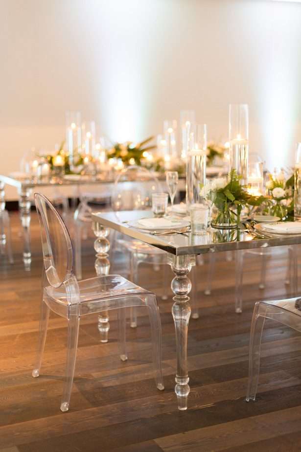 modern acrylic wedding table - Studio EMP