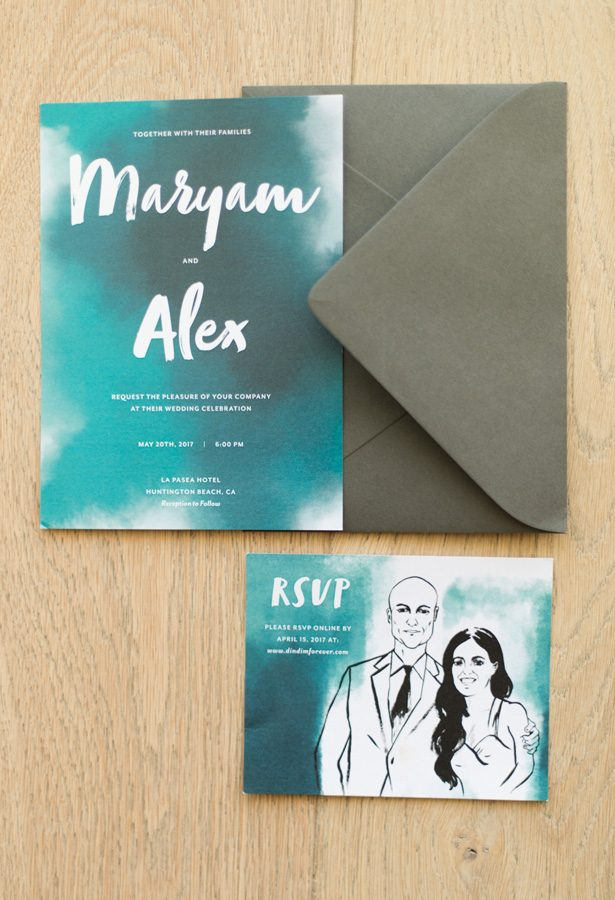 tropical wedding invitation - Studio EMP