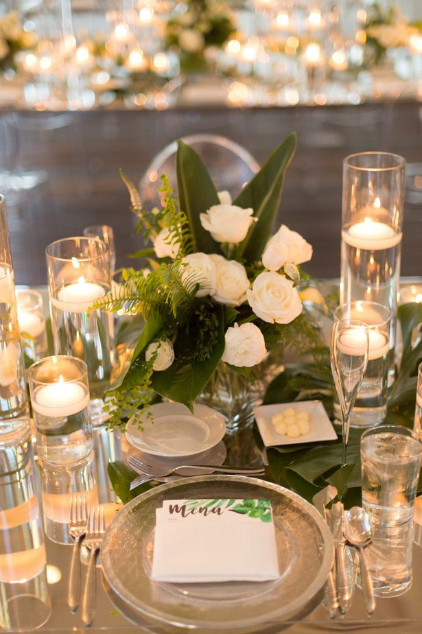tropical wedding table centerpiece - Studio EMP