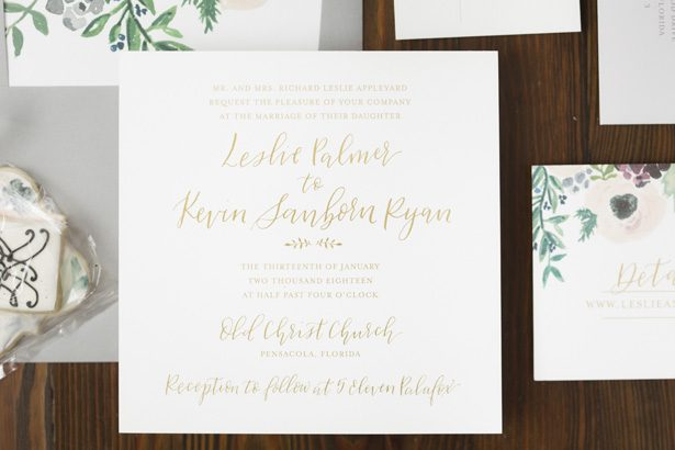 wedding invitation - Aislinn Kate Photography