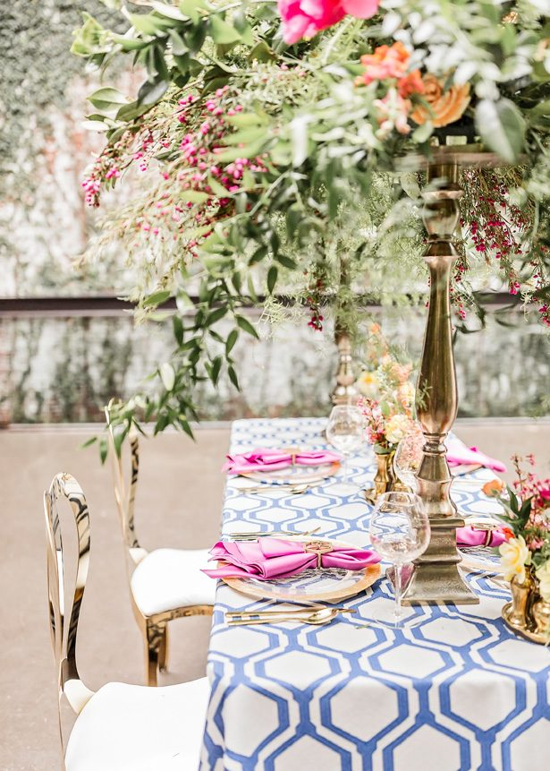 Bride and Groom Photo |Modern Meets Glamour Wedding Tablescape With Colorful Spring Vibes - Photography: Sarah Casile Weddings