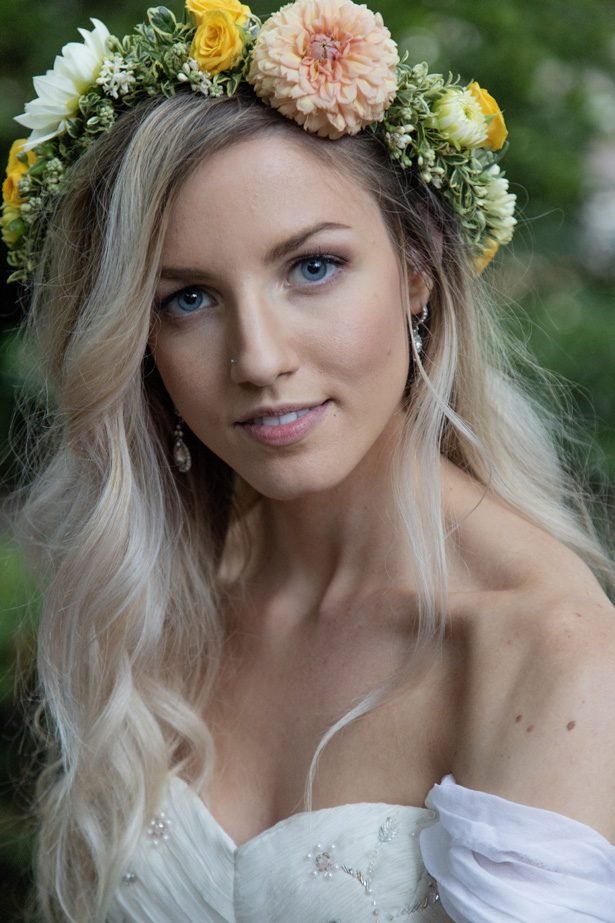 Bride with wedding floral crown - Photography: Szu Designs, Inc