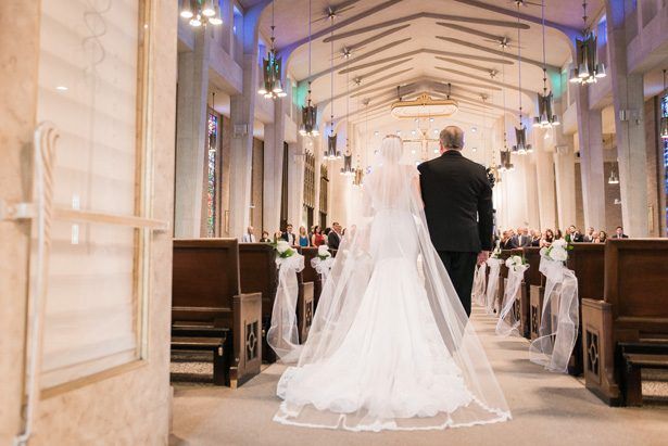 Church wedding ceremony - Classic Blush Wedding at The Houston Club - Nate Messarra Photography