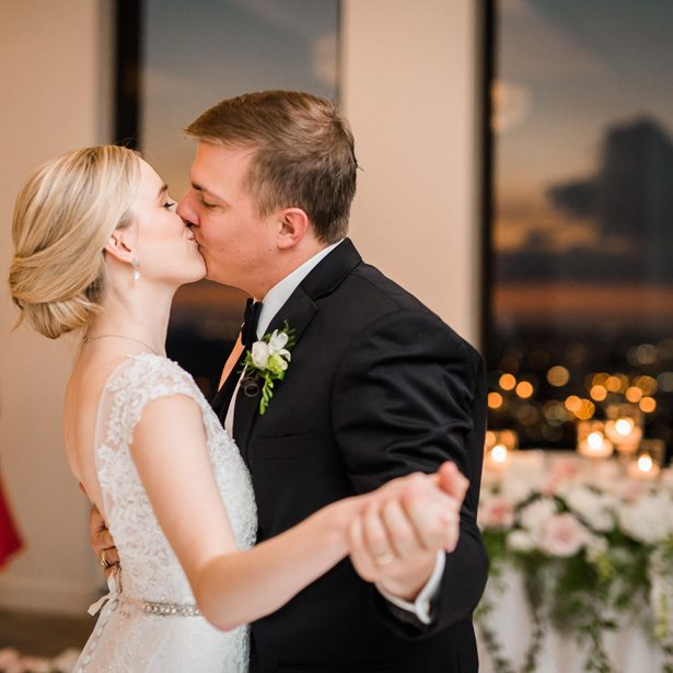 First dance - Classic Blush Wedding at The Houston Club - Nate Messarra Photography