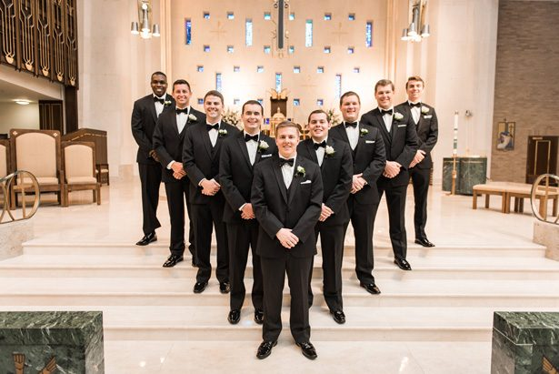 Groomsmen Tuxedos - Classic Blush Wedding at The Houston Club - Nate Messarra Photography