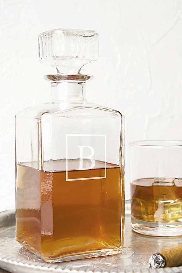 Groomsmen gifts - Personalized Glass Decanter
