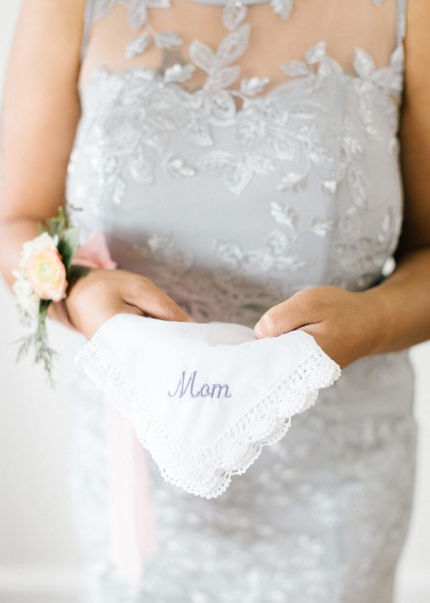 Mom Handkerchief for wedding - Photography: The Mallorys