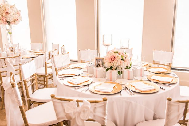 Pink Wedding tablescape - Classic Blush Wedding at The Houston Club - Nate Messarra Photography