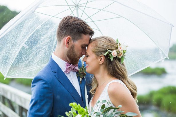 Romantic Rainy Day Wedding Moments + Tips