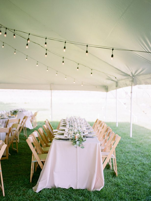 Tent wedding decor | Rainy Day Wedding Moments - Brianna Wilbur Photography