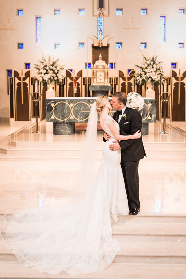 Romantic wedding photo - Classic Blush Wedding at The Houston Club - Nate Messarra Photography