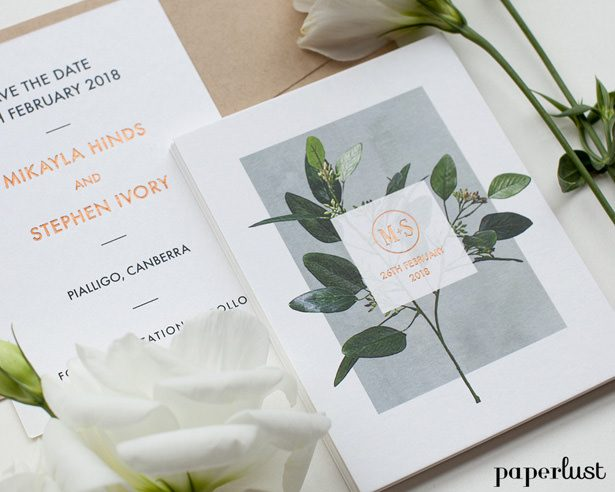 Rustic Wedding Invitations - Garden Estate