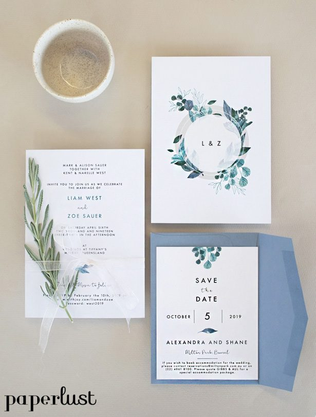 Rustic Wedding Invitations by Paperlust
