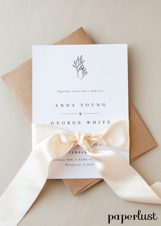 Rustic Wedding Invitations -Paperlust Sara Uduwela