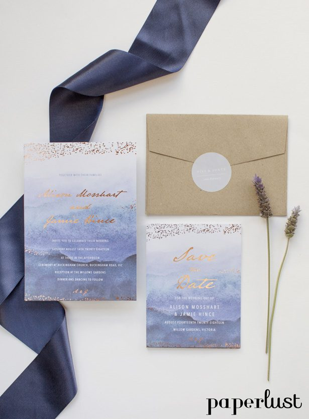 Rustic Wedding Invitations by Paperlust -mira