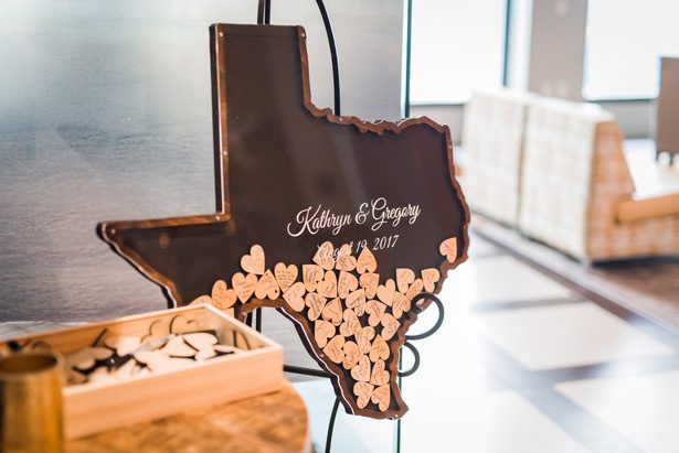Texas wedding sign -Classic Blush Wedding at The Houston Club - Nate Messarra Photography