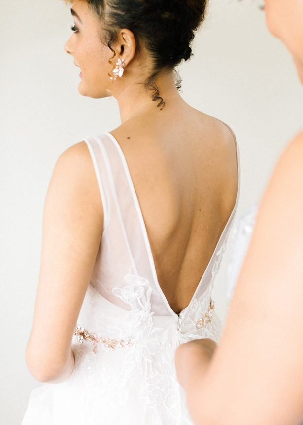 Wedding dress by David's Bridal - Photography: The Mallorys