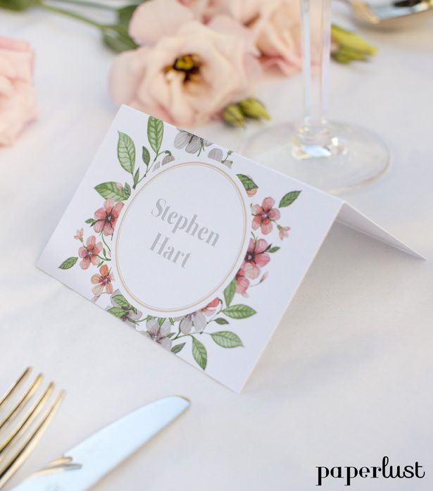 Wedding placecard by Paperlust