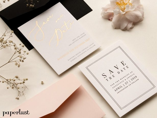 Wedding save the date by Paperlust