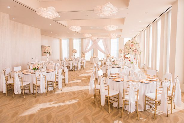 White and pink wedding reception decor - Classic Blush Wedding at The Houston Club - Nate Messarra Photography
