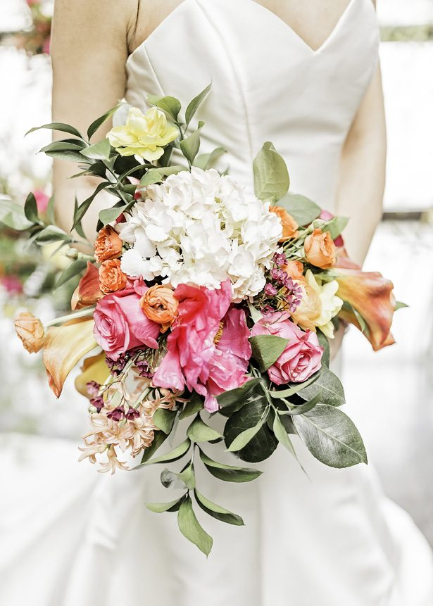 bright wedding bouquet - Sarah Casile Weddings