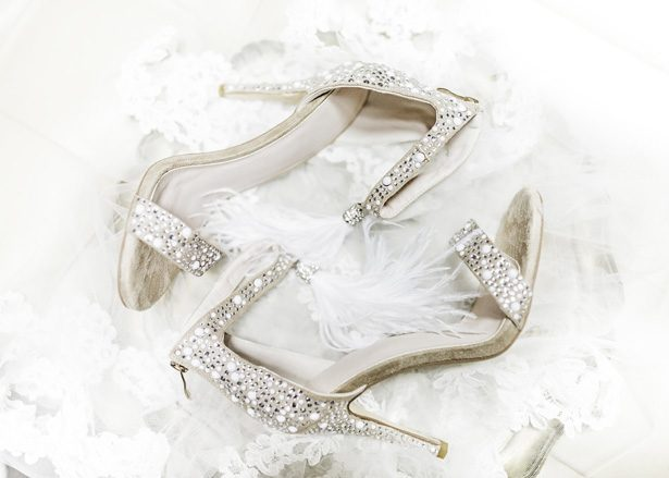 diamond wedding shoes - Sarah Casile Weddings