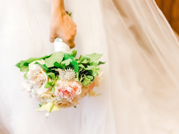 garden rose wedding bouquet - Sarah Nichole Photography